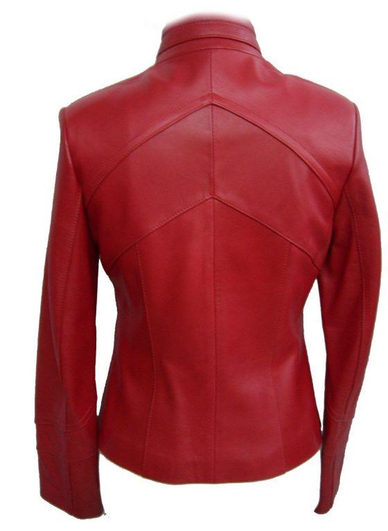 chaqueta de señora roja