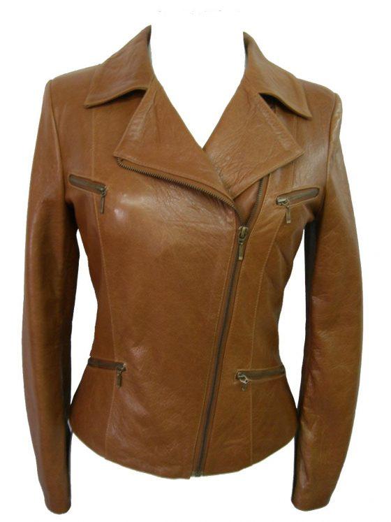 chaqueta de señora marron medio