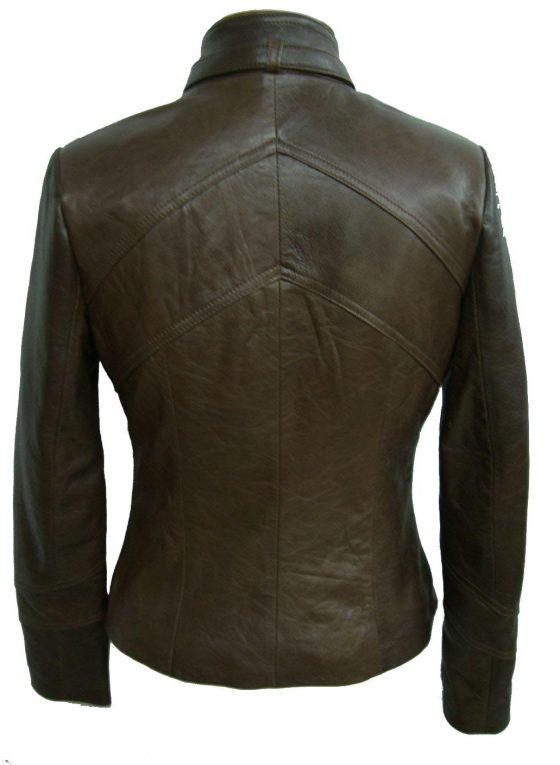 chaqueta de señora marron oscuro
