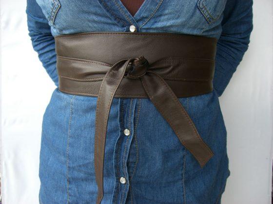 cinturon-fajin de piel