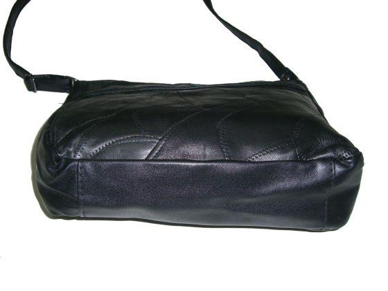 bolso-bandolera de piel negra