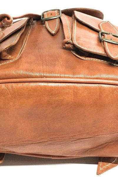 4e69f0aba mochila de piel color marron 100 % vacuno - Yojan Piel
